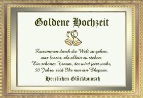 Geschenk Zur Goldenen Hochzeit Glckwnsche Zur Goldhochzeit