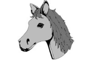 Malvorlagen pferde 155